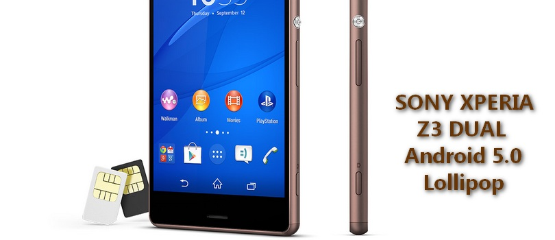 Sony Xperia Z3 Dual – oficjalny Android 5.0.2 Lollipop