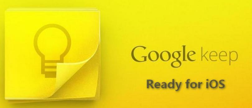 Google Keep wydane dla iOS