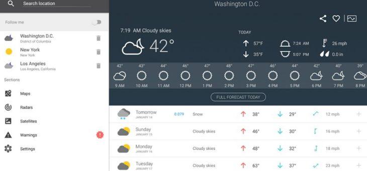 Aplikacja za 50 groszy – Pogoda na 14 dni Pro